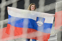 Fan of Slovenia during handball match between National teams of Slovenia and Denmark on Day 2 in Main Round of Men's EHF EURO 2018, on January 19, 2018 in Arena Varazdin, Varazdin, Croatia. Photo by Mario Horvat / Sportida