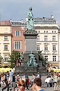 Poland, Krakow. Rynek Glówny (Market Square).