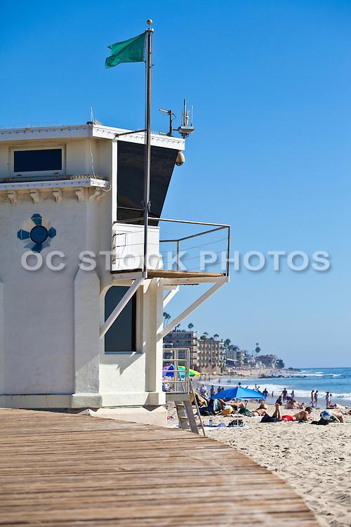 Laguna Beach Lifeguard Tower at Main Beach