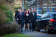 Britain First leaders Paul Golding and deputy leader Jayda Fransen and entourage arriving at Folkestone Magistrate Court on 30th January 2018 in Folkestone, United Kingdom. Both are accused of causing religiously-aggravated harassment. (photo by Andrew Aitchison / In pictures via Getty Images)
