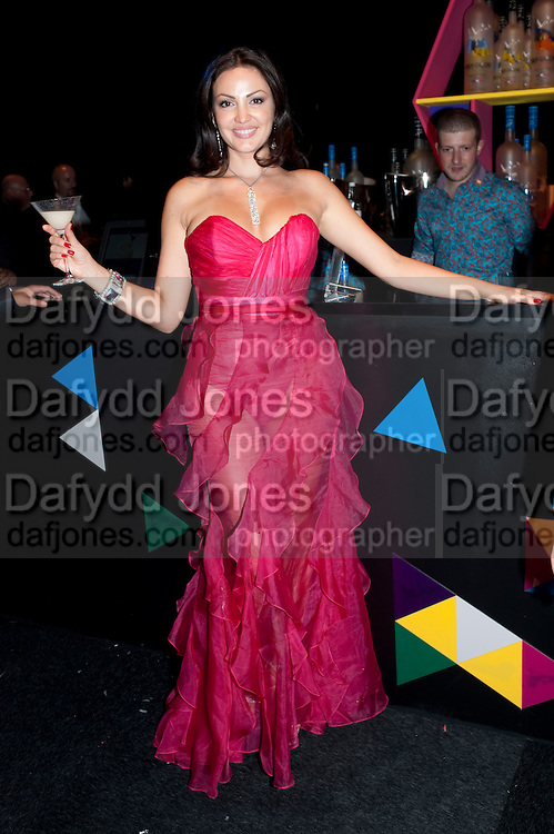 BLEONA QUERETI,  Grey Goose Winter Ball to Benefit the Elton John AIDS Foundation. Battersea park. London. 29 October 2011. <br /> <br />  , -DO NOT ARCHIVE-&copy; Copyright Photograph by Dafydd Jones. 248 Clapham Rd. London SW9 0PZ. Tel 0207 820 0771. www.dafjones.com.