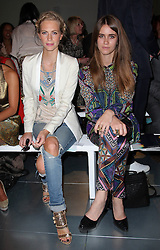Poppy Delevingne and Jade Williams at the Matthew Williamson show   at London Fashion Week for Spring/Summer 2013, Sunday,16th September 2012 Photo by: Stephen Lock / i-Images