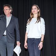 NLD/Amsterdam/20150217 - Castpresentatie de Helleveeg, regisseur André van Duren en Hannah Hoekstra