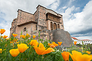 The Church of Santo Domingo in Cusco, Peru, is built upon the Koricancha, the Inca Temple of the Sun.
