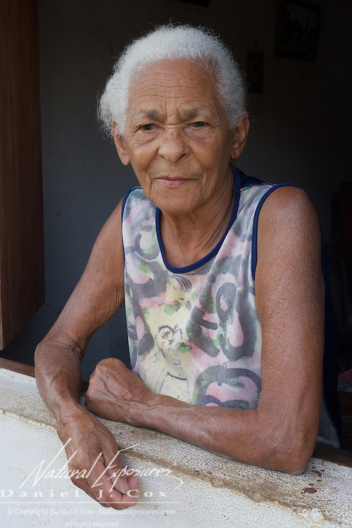 An older Cuban lady at the window of her home in Trinidad, Cuba.