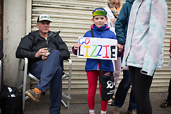 One of the many Lizzie Armitstead (GBR) supporters shows a colourful banner before the Aviva Women's Tour 2016 - Stage 4. A 119.2 km road race from Nottingham to Stoke-on-Trent, UK on June 18th 2016.