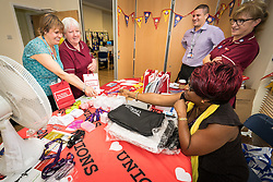 The Princess Alexandra Hospital, Harlow, Nursing & Midwifery Celebration Day - training and information, UK. Unison trade union table