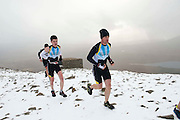 "Gerard Corcoran winner and Robert Staunton (3rd) in the ""Westport  Sea 2 Summit ""  adventure race on the top of Croagh Patrick, where 1100 athletes ran, cycled and hiked 56km(summit) in Co Mayo . Photo:Andrew Downes"