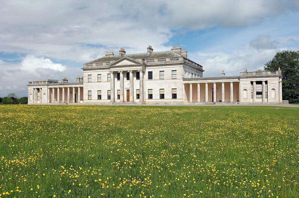 Castle Coole, neo-classical home of the Earls of Belmore. Near Enniskillen, County Fermanagh, N. Ireland