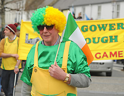 Padraig Moran Aughagower Community games at the parade on sunday.<br /> Pic Conor McKeown