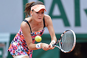 Agnieszka Radwanska from Poland competes in women's single the third round while Day Sixth during Roland Garros 2014 at Roland Garros Tennis Club in Paris, France.<br /> <br /> France, Paris, May 30, 2014<br /> <br /> Picture also available in RAW (NEF) or TIFF format on special request.<br /> <br /> For editorial use only. Any commercial or promotional use requires permission.<br /> <br /> Mandatory credit:<br /> Photo by &copy; Adam Nurkiewicz / Mediasport@