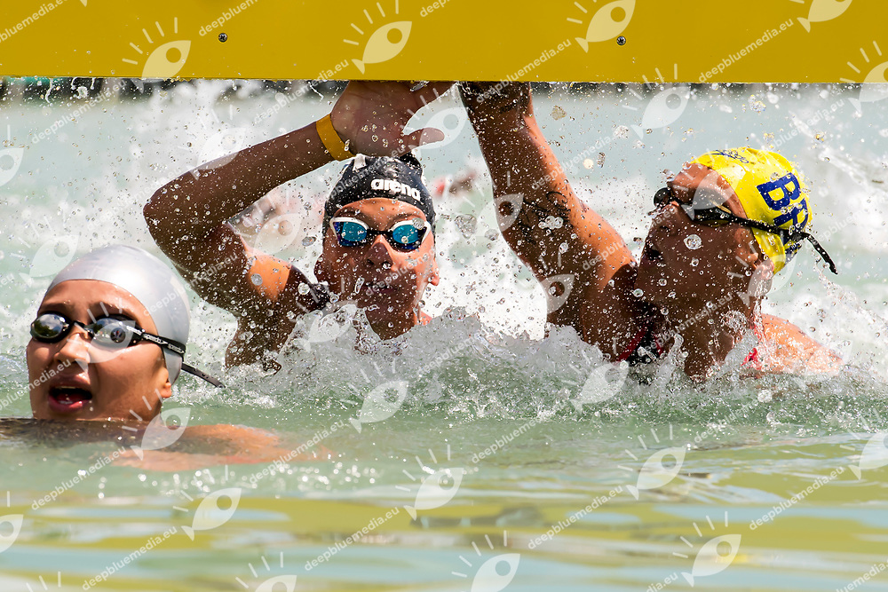 BRIDI Arianna ITA, CUNHA Ana Marcela BRA Bronze medal ex aequo <br /> Women's 10Km <br /> Open Water Swimming Balatonfured<br /> Day 03 16/07/2017 <br /> XVII FINA World Championships Aquatics<br /> Lake Balaton Budapest Hungary  <br /> Photo Andrea Staccioli/Deepbluemedia/Insidefoto