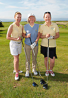 Galway Bay Golf Club Fiona Caulfield, Mary Kelly and Orla Shiields one of the 18 golf clubs who qualified for The 2012 Ladies Irish Open Club Challenge Connaught Final battled it out at Galway Golf Club with the winning team going through to play in the Ladies Irish Open PRO-AM in Killeen Castle on August 2nd. .MORE:.The winning team Galway Golf Club of  Clodgah Hennessy, Sheelagh Kearney and Alice Murphy,  earn a once-in-a-lifetime opportunity to play with a professional at the Ladies Irish Open in August along with an over-night stay and invitation to the Gala Dinner..Over 180 clubs throughout the country, resulting in a total of 584 teams and 1,752 ladies, entered this year?s Club Challenge with 120 teams qualifying for the provincial finals. The participating clubs are competing in the fifth staging of the Club Challenge following the outstanding success of The 2011 Solheim Cup, the greatest global marquee event in ladies golf which saw Alison Nicholas? team of Europeans win back the coveted trophy by a margin of 14.5 - 12.5 in the most exciting staging of the event ever recorded, in Killeen Castle, Co. Meath..For the latest information on The 2012 Ladies Irish Open Club Challenge and to purchase tickets for The 2012 Ladies Irish Open visit www.ladiesirishopen.ie.Photo:Andrew Downes. ..