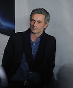 Inter Milan coach Jose Mourinho chats in the tunnel as he returns to Stamford Bridge before the second leg of the round of 16 UEFA Champions League match at home to Chelsea at Stamford Bridge football stadium, London on March 16, 2010.