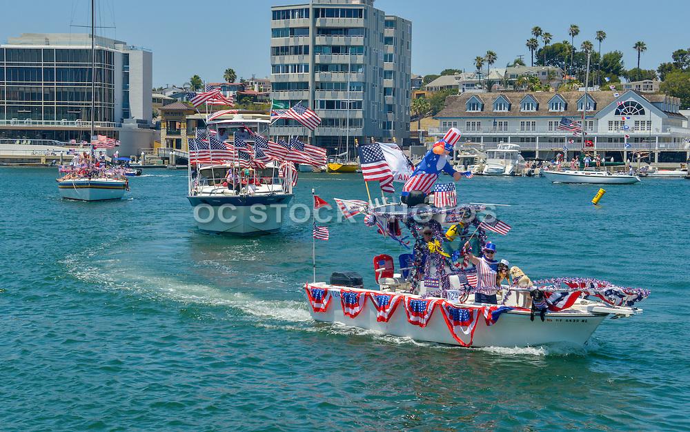 Old Glory Boat Parade Newport Beach