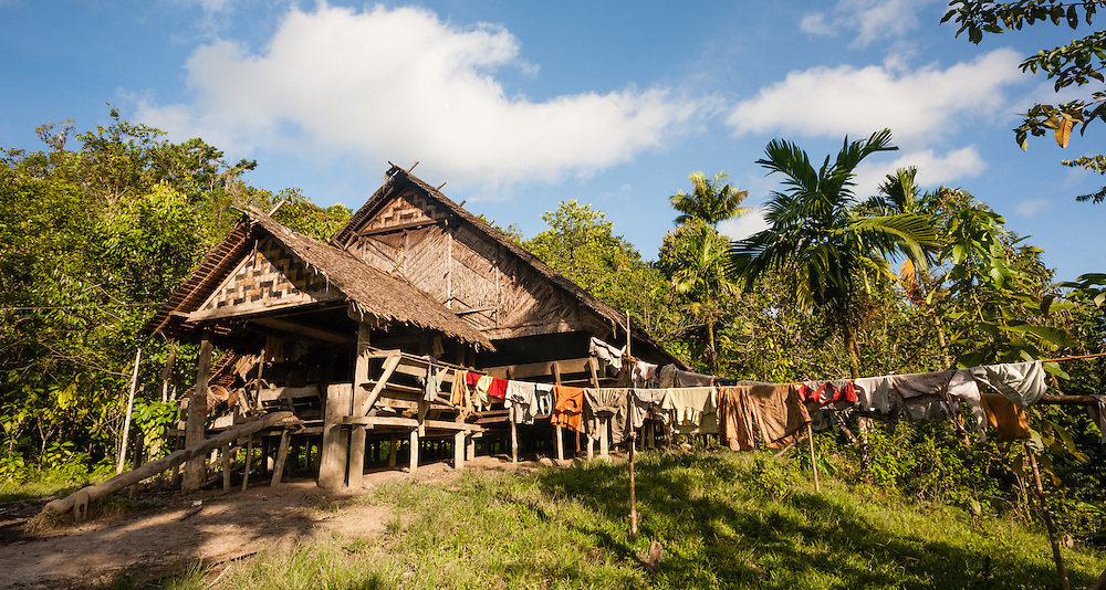 Mentawai indigenous people house (Indonesia).