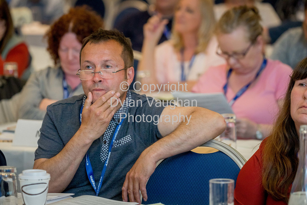 1-6-17<br />  <br /> Niall Guy, Dublin South HSE pictured at the IMPACT Health and Welfare Division Conference in Wexford.<br /> Picture Dylan Vaughan.