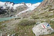Bergweg zum Gauligletscher im Hintergrund