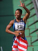 Friidrett. VM 2001 Edmonton. KIRKLAND, Anjanette     USA<br />              Leichtathletik WM 2001  100m Hürden