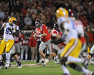 Mississippi quarterback Bo Wallace (14) vs. LSU at Vaught-Hemingway Stadium in Oxford, Miss. on Saturday, October 19, 2013. Mississippi won 27-24. (AP Photo/Oxford Eagle, Bruce Newman)