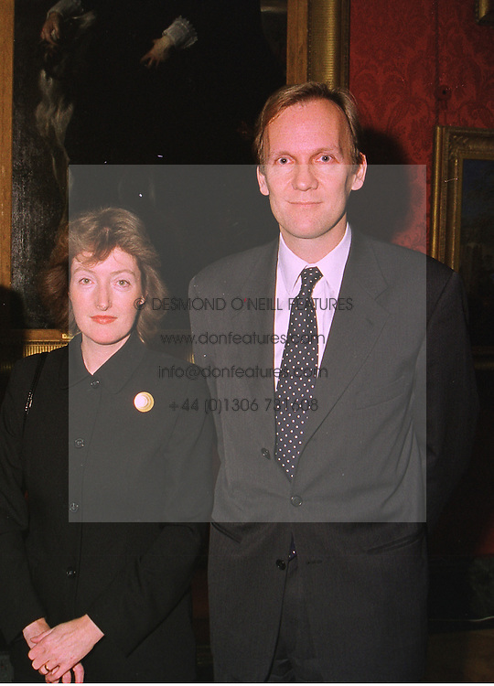 MR & MRS DAVID BARRIE he is Director of the National Art Collection Fund, at a reception in London on 16th November 1998.MLZ 6 2ORO