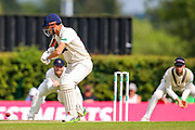 Charlie Hemphrey of Glamorgan scores 4 runs during the Specsavers County Champ Div 2 match between Middlesex County Cricket Club and Glamorgan County Cricket Club at Radlett Cricket Ground, Radlett, Herfordshire,United Kingdom on 17 June 2019.