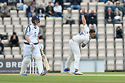 Tim Bresnan of Yorkshire bowling during the Specsavers County Champ Div 1 match between Hampshire County Cricket Club and Yorkshire County Cricket Club at the Ageas Bowl, Southampton, United Kingdom on 21 April 2017. Photo by Graham Hunt.