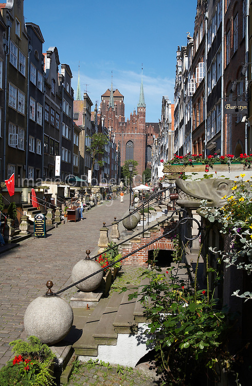 Poland Gdansk Ulica Mariacka shopping street famous for Amber jewellery