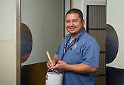Houston ISD maintenance technician Ramiro Arredondo poses for a photograph, July 24, 2014.