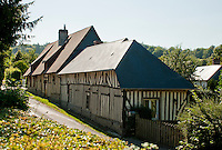 half-timbered house near Villers-sur-Mer, Normandy, France