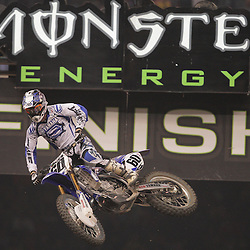 14 March 2009: Broc Hepler (60) gains air during the Monster Energy AMA Supercross race at the Louisiana Superdome in New Orleans, Louisiana