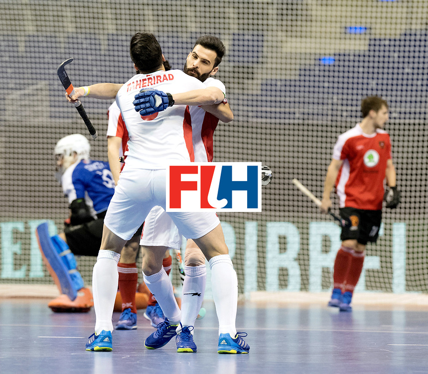 BERLIN - Indoor Hockey World Cup<br /> Men: Iran - Austria<br /> foto: Iran celebrate.<br /> WORLDSPORTPICS COPYRIGHT FRANK UIJLENBROEK