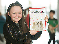 Each year over 6,000 primary school children in County Galway write and submit books in English and Irish. The winning entries are recognised in a major Awards&rsquo; Ceremony attended by an average of 1,500 attendees each year held in the Galmont Hotel.<br /> One of this years young authors was  Katie Ni Labhradha from Gaelscoil Dara.<br />    Photo:Andrew Downes, XPOSURE .