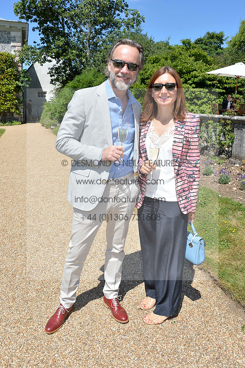 Marcus Wareing and his wife Jane at the Cartier Style et Luxe at the Goodwood Festival of Speed, Goodwood, West Sussex, England. 2 July 2017.<br /> Photo by Dominic O'Neill/SilverHub 0203 174 1069 sales@silverhubmedia.com