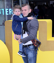 Jack Wilshere and Archie attend The Premiere of Peppa Pig: The Golden Boots at The Odeon, Leicester Square, London on Sunday 1 February 2015