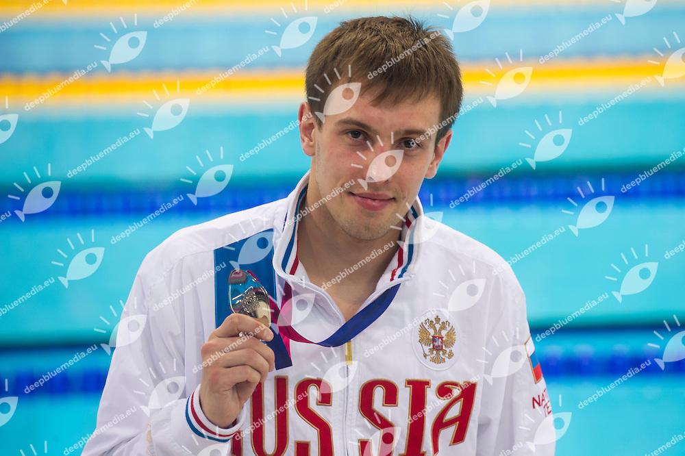 MINIBAEV Viktor RUS silver medal<br /> London, Queen Elizabeth II Olympic Park Pool <br /> LEN 2016 European Aquatics Elite Championships <br /> Diving<br /> Men's 10m platform final <br /> Day 07 15-05-2016<br /> Photo Giorgio Perottino/Deepbluemedia/Insidefoto