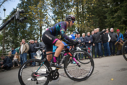 Pauline Ferrand-Prevot (FRA) of CANYON//SRAM Racing rides up the Mur de Huy in the final lap of La Flèche Wallonne Femmes - a 120 km road race, starting and finishing in Huy on April 19, 2017, in Liège, Belgium.