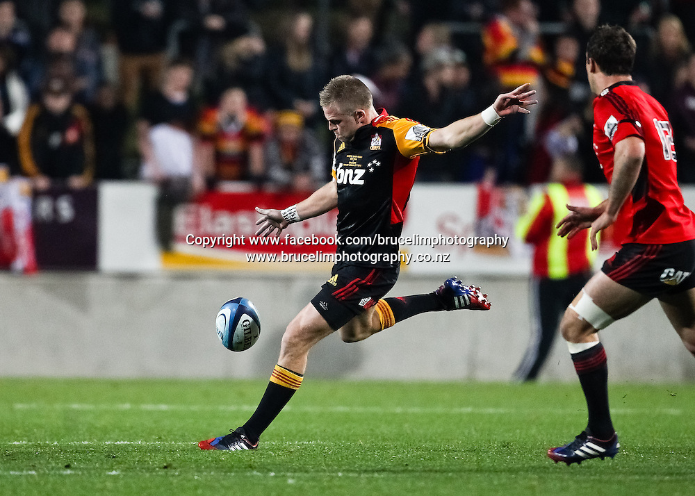 Chiefs' Gareth Anscombe during the Super 15 rugby union semi final match, Chiefs v Crusaders at Waikato Stadium, Hamilton on Saturday 27 July 2013.  Photo:  Bruce Lim / Photosport.co.nz