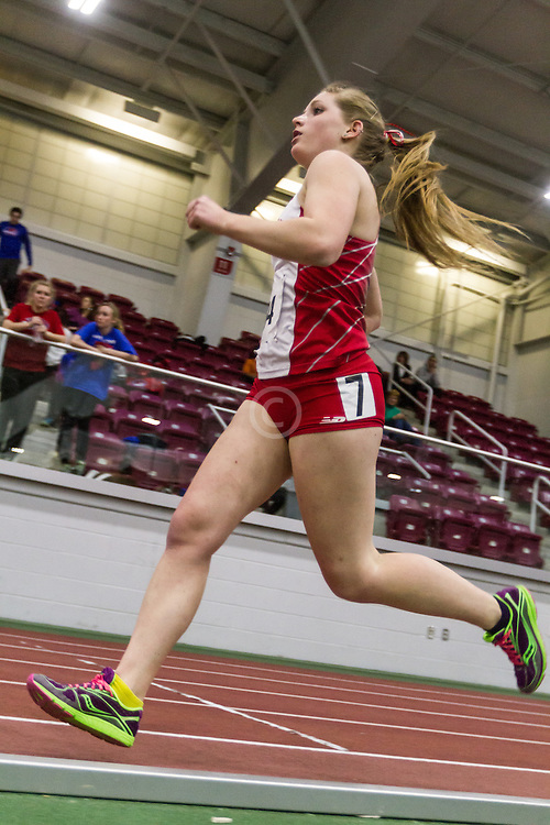 Boston University Multi-team indoor track & field, women's one mile, heat 1, BU, 384