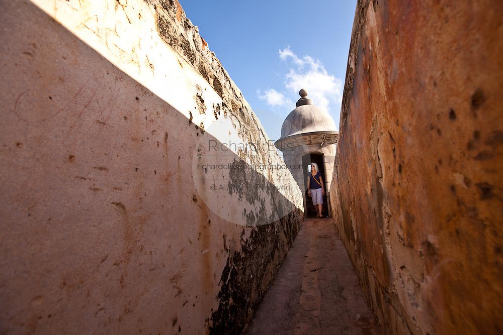 Parapet inside Castillo de San Cristóbal Old San Juan, Puerto Rico.
