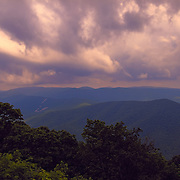 """""""Glory Over the Blue Ridge""""<br /> <br /> Gorgeous pinks and purples grace the sky above layers of mountains in the Blue Ridge Mountains of Virginia!"""
