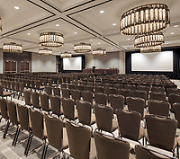 The Mahogany ballroom at the Hyatt Regency Schaumburg Hotel in Illinois. The Northwest Chicago area hotel has went through an extensive renovation.