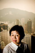 Portrait of Cheung Yan, Chairwoman of Nine Dragons Paper, China's largest paperboard producer.  Photographed in Hong Kong by Brian Smale, for Fortune Magazine's list of the world's most powerful women.