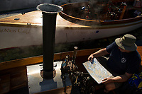Steamboating at Lees Mill in Moultonboro.  ©Karen Bobotas Photographer