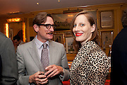 HAMISH BOWLES; LIZ GOLDWYN, PARTY FOR BLOW BY BLOW BY DETMAR BLOW AND TOM SYKES. ANNABEL'S. BERKELEY SQ. LONDON. 21 SEPTEMBER 2010. -DO NOT ARCHIVE-© Copyright Photograph by Dafydd Jones. 248 Clapham Rd. London SW9 0PZ. Tel 0207 820 0771. www.dafjones.com.
