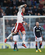 Rangers' Joe Garner celebrates his goal - Dundee v Rangers in the Ladbrokes Scottish Premiership at Dens Park, Dundee.Photo: David Young<br /> <br />  - © David Young - www.davidyoungphoto.co.uk - email: davidyoungphoto@gmail.com