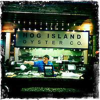 Napa Adventures Spring 2012 OxBow Market in Napa, CA. Hog Island Oyster Company. iPhone Hipsta
