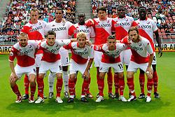 09-08-2009 VOETBAL: FC UTRECHT - WILLEM II: UTRECHT<br /> Utrecht wint met 1-0 van Willem II / Utrecht met oa Tim Cornelisse, Michel Vorm, Loic Loval, Jan Wuytens, Francis Dickoh en Jacob Mulenga. Zittend Michael Silberbauer, Ricky van Wolfswinkel, Mihai Nesu, Dries Mertens en Gregoor van Dijk<br /> &copy;2009-WWW.FOTOHOOGENDOORN.NL