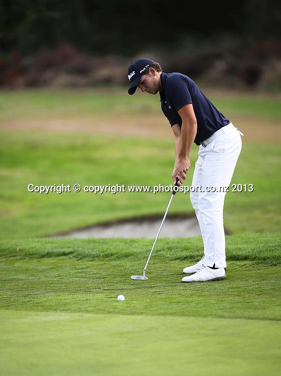 Luke Toomey on Day 2 of the 2013 New Zealand Amateur Championship, Manawatu Golf Club, Palmerston North, New Zealand. Thursday 25 April 2013. Photo: John Cowpland / photosport.co.nz