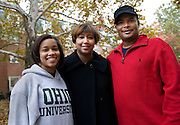 Freshman Kourtney Wilson, her mother Katrina, and Tony Wilson attended the Parents and Students festivities on Saturday.